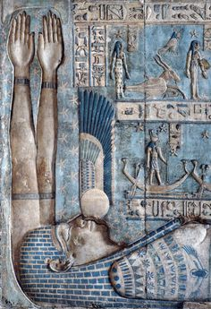 themalenudityinart: setting-of-the-sun-in-hathor-temple-at-dendera