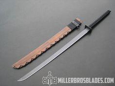 Miller Bros. Blades Custom Katana Sword Available in Z-Wear PM, CPM 3V and 5160 Miller Bros. Blades Custom Handmade Knives, Swords & Tomahawks.