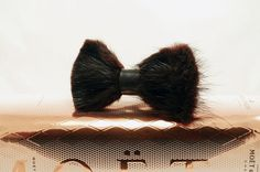 Fur Bow Tie by LimeG on Etsy