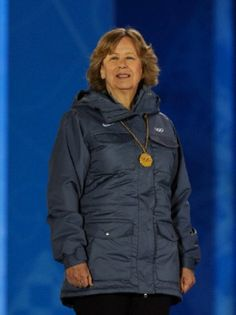 Princess Nora of Liechtenstein attends the medals ceremony for the women's downhill at the 2014 Winter Olympics, 12 Feb 2014, in Sochi, Russia.