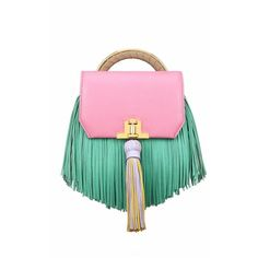 The Volon Pink Bon Bon H Fringe Detail Crossbody Bag (3.620 BRL) ❤ liked on Polyvore featuring bags, handbags, shoulder bags, pink, fringe purse, fringe handbags, crossbody purses, cross-body handbag and pink purse