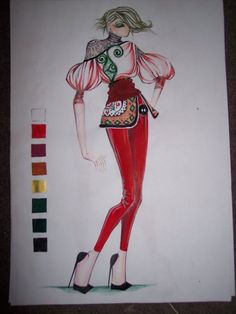 etnic 11 by TimeaElisa on DeviantArt Fashion Drawing Tutorial, Fashion Figure Drawing, Fashion Drawing Dresses, Fashion Illustration Dresses, Fashion Design Drawings, Fashion Sketches, Croquis Fashion, New Look Patterns, Fashion Figures