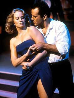 "Cybill Shepherd and Bruce Willis in ""Moonlighting"""
