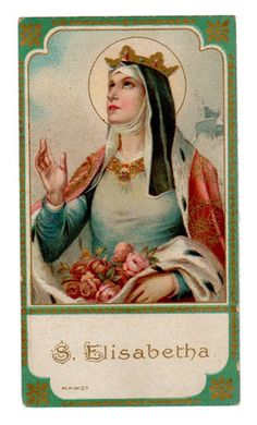 St Elisabetha Vintage Holy Card M H w Co Germany
