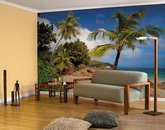 Interior decorado con Fotomural Praslin 8NW-885