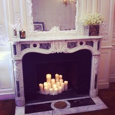I'm about to do this to my fireplace and add some mirrors underneath and behind the candles