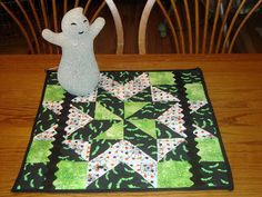 Jane's Fabrics and Quilts Happy Halloween Table Topper