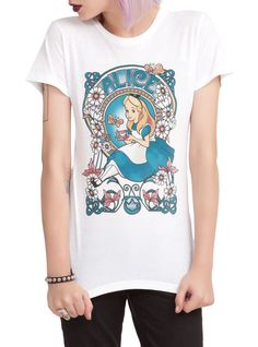 Disney Alice In Wonderland Nouveau Girls T-Shirt | Hot Topic