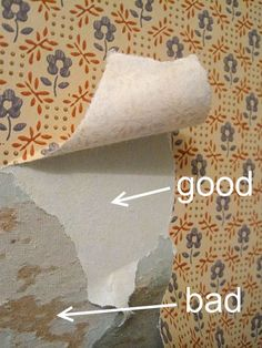 Remove Wallpaper: Step by Step and on the Cheap! how to remove wallpaper. Just in Cause our new house has a lot I need to remove!how to remove wallpaper. Just in Cause our new house has a lot I need to remove! Deep Cleaning Tips, House Cleaning Tips, Cleaning Hacks, Do It Yourself Furniture, Do It Yourself Home, Home Renovation, Home Remodeling, Cleaning Painted Walls, Paint Walls
