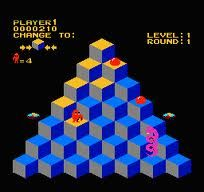 I loved playing Q-Bert, but hated that dang snake!!!