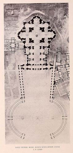 Plan of Saint Peters' Dome, Vatican City