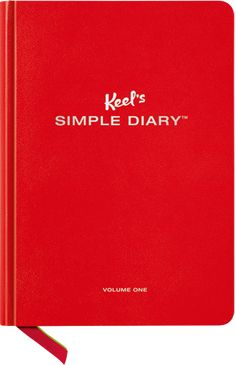 Intriguing idea.  Not sure it's right for me.  The book - Keel's Simple Diary™ offers structure for those who don't have time to wonder, making it easy to record life's moments. It gives the pleasure of a quick response and the sense that no matter what's wrong [in life], more is right.