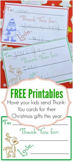 Children's Christmas Thank You Cards - Our Thrifty Ideas Christmas Thank You, Little Christmas, Christmas Holidays, Christmas Crafts, Christmas Wrapping, Christmas Ideas, Winter Fun, Winter Holidays, 2015 Winter