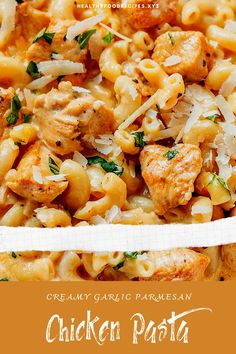 Best & healthy recipes of Instant Pot Creamy Garlic Parmesan Chicken Pasta Pasta Recipes Indian, Easy Healthy Pasta Recipes, Creamy Pasta Recipes, Vegetarian Pasta Recipes, Healthy Chicken Pasta, Baked Pasta Recipes, Pasta Dinner Recipes, Garlic Chicken Recipes, Crispy Chicken