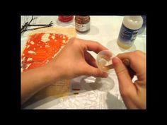 tutorial sobre el uso de resina en técnica mixta