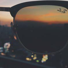 Sunset through the lenses
