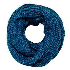 Chunky Knit Infinity Scarf - Teal  @Pat Papadopulos for the one we were talking about in burgundy.