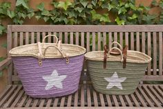 NEW LARGE Straw Bag with leather straps Beach Bag by BlowawishBags, €53.00