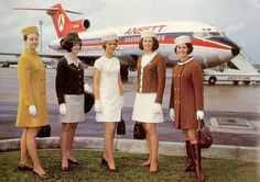 Vintage Stewardess Pictures - Flight Attendant Photos From The Past When The Airlines Only Hired The Hot Sexy Stewardess. Air Hostess Uniform, Australian Airlines, Flight Bag, Flight Deck, Airline Uniforms, Air New Zealand, Pin Up, Airline Flights, Cabin Crew