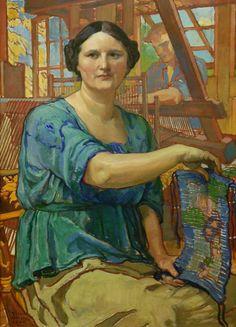 Violet Oakley (1874-1961) - Weavers of New Hope, 1920
