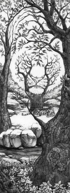 The Sleeping Tiger by willustration.deviantart.com on @deviantART