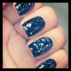 Darth Vader! Awesome nail art!