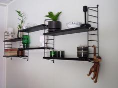2 x Pocket Scandinavian Shelves, String Regal, Home Id, Bedroom Black, Slow Living, New Home Designs, Home Decor Furniture, Room Organization, Home Office