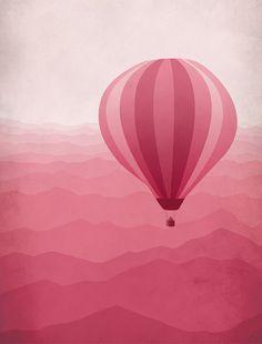 Hot Air Ballon Pink, by Eve Sand (Canadá, 2014)