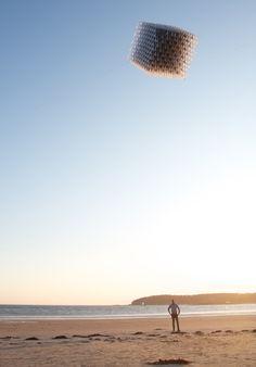 Una scultura di grandi dimensioni, ma leggera e in grado di volare.