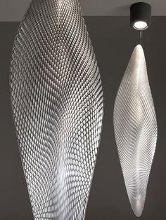 """Cosmic Leaf"" floor and suspension lamp | lighting . Beleuchtung . luminaires | Design: Ross Lovegrove |"