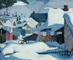 """Winter, Québec,"" Edwin Holgate, ca. 1925, oil on canvas, 18 x 24"", private collection."
