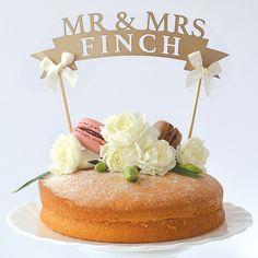 Mr. & Mrs. wedding cake topper