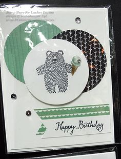 Bear Hugs cards shared by Dawn Olchefske #dostamping #stampinup (SS4L display)