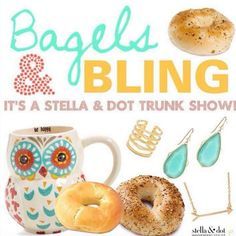 Let's put the kids on the bus and have #mommy time  What a great way to #celebrate #backtoschool. Having time with your #friends. I'll bring the #bling and even the #bagels. While the #kids are in #school let's have a #style session. I have a few dates open. Message me 732-735-3073 #bagels #bling #trunkshow #letmespoilyou  #fun #laughs #style #funpartiesbyrobyn #stelladot