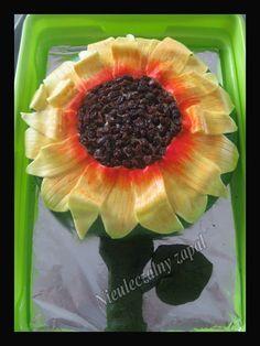 sunflower cake, tort słonecznik,