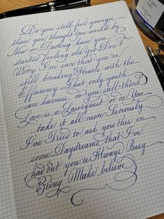 271 Times People Found Some Truly Perfect Handwriting Examples That Were Too Good Not To Share Calligraphy Letters Alphabet, Copperplate Calligraphy, How To Write Calligraphy, Calligraphy Handwriting, Penmanship, Handwriting Examples, Handwriting Styles, Nice Handwriting, Beautiful Handwriting