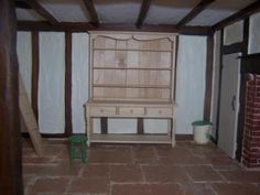 Hollyhock Cottage - a miniature home in the 1940s: Making a dresser