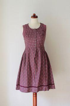 Vintage Dirndl Dress 1970's German von PaperdollVintageShop