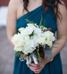 Simple winter bridesmaid bouquet #Breckenridge #Florist #Flowers #Wedding  Florals by Petal & Bean Breckenridge, CO