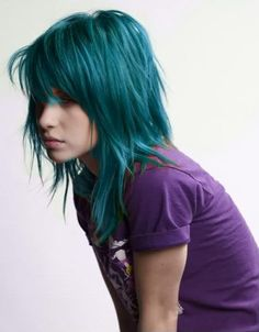 hayley williams blue hair - Paramore Photos