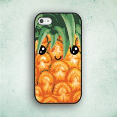Pineapple Cute Kawaii iPhone 5 Case iPhone 4 Case by CaseOddity, $15.99
