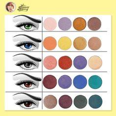Shadow colors to compliment eye color. Top 10 Beauty Tips, Beauty Secrets, Beauty Hacks, Makeup Tips 101, Makeup Ideas, Hazel Green Eyes, Makeup Charts, Firming Eye Cream, Best Eyeshadow