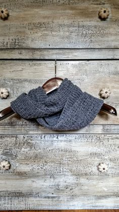Handmade Hand Knit Grey Gray Infinity Scarf Cowl Long Scarf Gifts for Her Gifts Under 100 Peruvian Highland Wool Neutral Scarf