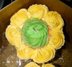 orange cupcake and buttercream. #PopCake