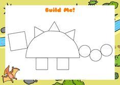 Afbeeldingsresultaat voor build me dino Dinosaurs Preschool, Dinosaur Activities, Preschool Letters, Toddler Activities, Preschool Activities, Dinosaur Projects, Dinosaur Crafts, Dino The Dinosaur, Nursery Activities