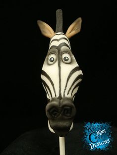 Marty Zebra Cake Topper From Madagascar