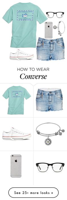 """""""It's Friday! YAS!"""" by twaayy on Polyvore featuring GlassesUSA, Ermanno Scervino, Southern Tide and Converse"""