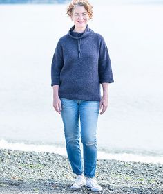 Funnel Neck Pullover Using Rowan Felted Tweed – Churchmouse Yarns & Teas Rowan Felted Tweed, Add Sleeves, Dk Weight Yarn, Red Barns, Sweater Knitting Patterns, Stockinette, Funnel Neck, Cool Fabric, Knit Crochet