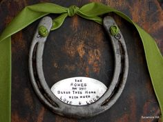 The Love and Luck Horseshoe  CUSTOM  Personalized by SycamoreHill, $68.00 wedding gift
