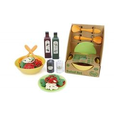 The Greenheart shop sells the Green Salad Play Set. Show that your child that healthy greens can be fun! The set is produced in the USA by Green Toys in California and sold by Greenheart Shop here in Chicago. They are made from recycled plastic and are BPA and phthalate free. Purchase a set directly in the Greenheart Shop or online.